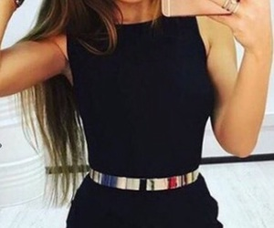 outfit, black, and dress image