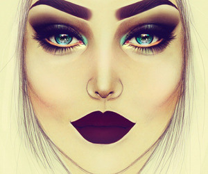 makeup, art, and drawing image