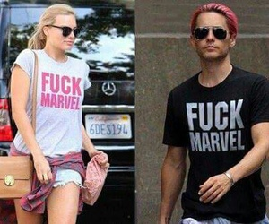 DC, jared leto, and margot robbie image