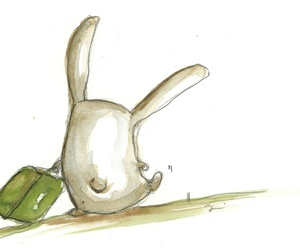 art, bunny, and cute image