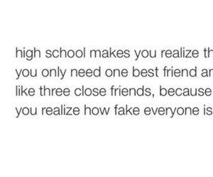 quote, high school, and life image
