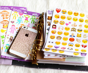 makeup, stickers, and meggy grace image