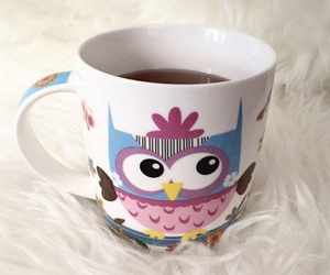 cup, girly, and owl image