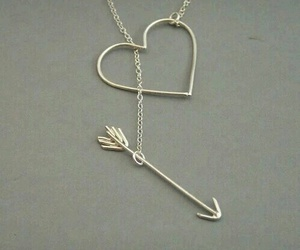 heart, necklace, and arrow image