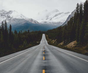 road, landscape, and mountains image