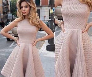 beautiful, pink, and dress image