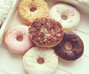 donuts, food, and chocolate image