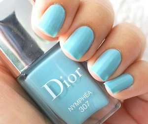 nails, dior, and blue image