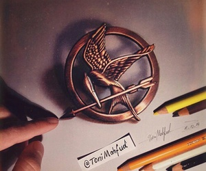 art, drawing, and hunger games image