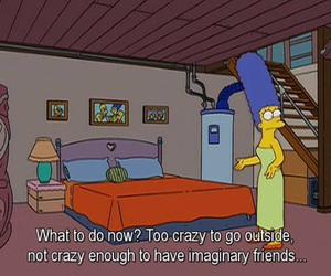 the simpsons, marge simpson, and imaginary friends image