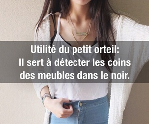 drole, girl, and francais image