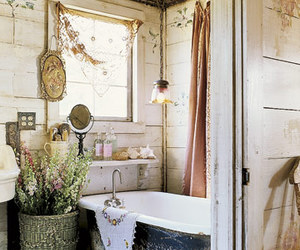bath, shabby chic, and vintage image