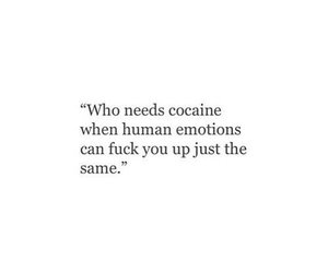 cocaine, feeling, and cry image