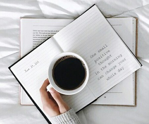 coffee, book, and quotes image