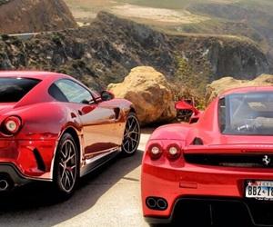 car, beautiful, and ferrari image