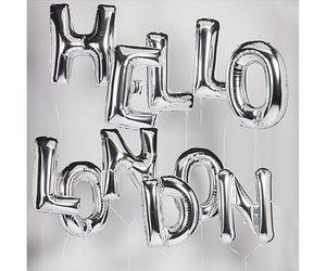 balloons, fashion, and hello image