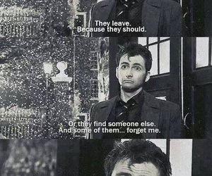 doctor who, david tennant, and sad image