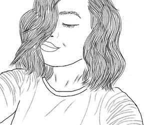 drawing, outline, and tumblr image