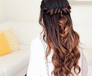 beautiful, haïr, and curly hair image
