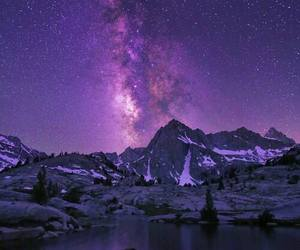 mountains, purple, and sky image
