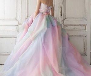 dress, rainbow, and beauty image
