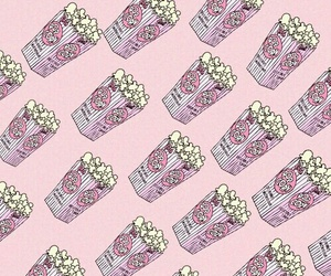 wallpaper, background, and popcorn image