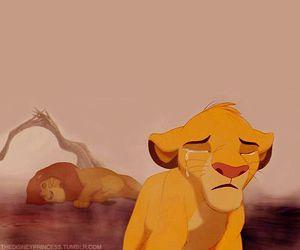 disney, sad, and the lion king image