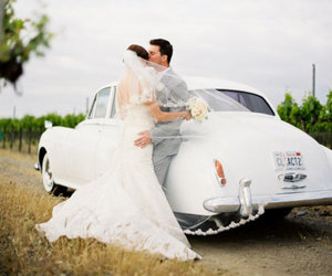 amour, bride, and car image