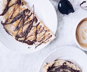 food, chocolate, and crepes image