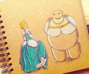 cinderella, disney, and baymax image