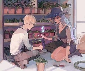 plants, anime, and boy image