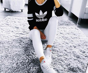 adidas, style, and black and white image