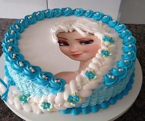 cake, frozen, and disney image