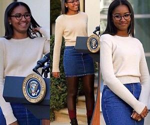 sasha obama, beautiful, and malia obama image