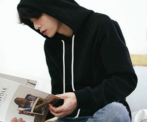 asian boy, book, and daily image