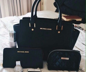 Michael Kors, bag, and black image