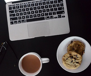aesthetic, chocolate chip, and coffee image