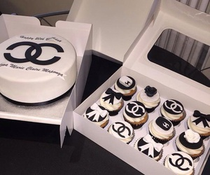 food, cake, and chanel image