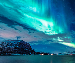 sky, nature, and northern lights image