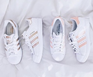 adidas, sneakers, and rose gold image