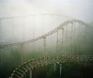 Roller Coaster, rollercoaster, and abandoned image