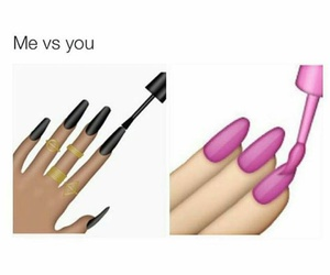 nails, black, and funny image