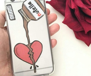 nutella, iphone, and heart image