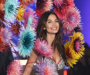 Lily Aldridge, Victoria's Secret, and fireworks image