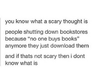 books, reading, and scary image