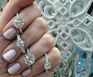 bride, engagement, and ring image