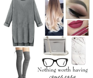 glasses, worth, and gray image