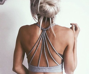 back, girl, and stylé image