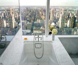 city, bathroom, and bath image