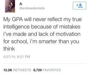 intelligence, school, and gpa image